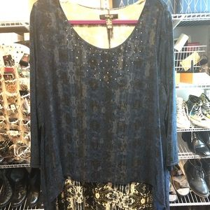 Style & Co - Tunic with sheer overlay
